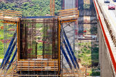 High altitude concrete bridge  — Стоковое фото