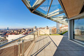 Modern building terrace — Stock Photo