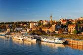 Belgrade from river Sava — Stock Photo