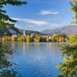 Stock Photo: Lake Bled - Sloveniin Autumn