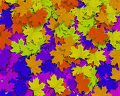 Multi Color Autum Background — Stock Photo