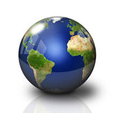 Glossy Earth Globe — Stock Photo