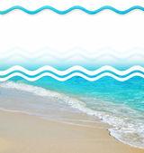 Tropical Sand Beach Design Elements  — Stockfoto