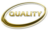 Quality sign symbol — 图库照片