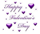 Happy Valentine's Day 3d text — Stok fotoğraf