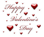 Happy Valentine's Day 3d text — Stock Photo