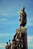 Taras Shevchenko Monument with his heroes — Stock Photo