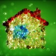 Abstract 3d illustration of home from bubbles — Stock Photo