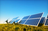 Photovoltaic with blue sky — Stock Photo