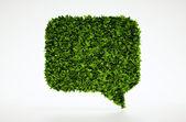 Ecology talk symbol with white background — Stock Photo