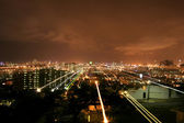 Durban South Africa At Night With Star Trails  — Stock Photo