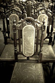 Antique Wooden Chairs — Foto Stock