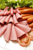 Cold Deli Meat Collection — Stock Photo