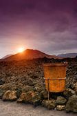 Sunset in Timanfaya, Lanzarote — Stock Photo