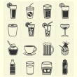 Icons drink set — Stock Vector