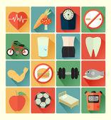Icons health set — Stock Vector