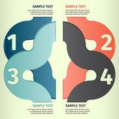 Infographics design template banner vector — Stock Vector