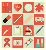 Icons medical set — Stock Vector