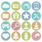 Icons web set — Stock Vector
