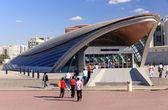 Tráfego da estação de metro de dubai — Fotografia Stock