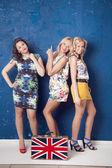 Three cheerful girls — Stock Photo