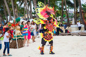 Festival ATI-Atihan on Boracay, Philippines. Is celebrated every — Foto Stock