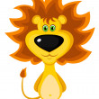 Stock Vector: Brave lion