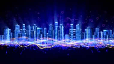 Dancing night city — Stock Video