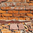 Ruined brick wall. Can be used as background — Stock Photo