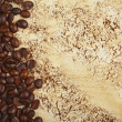 Coffee beans on abstract background with streaks and stains — Stock Photo #47366281