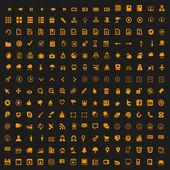 Mini icons set vector — Stock Vector