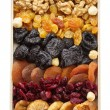 Mixed dried fruits and nuts — Stock Photo #42827827
