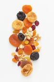 Mixed dried fruits and nuts — Stock Photo