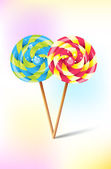 Colorful lollipops — Stock Vector
