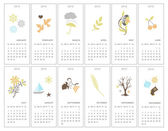 Decorative monthly calendars — Stock Vector