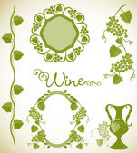 Wine decorative elements — Stock Vector
