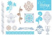 Vintage decorative elements — Stock Vector