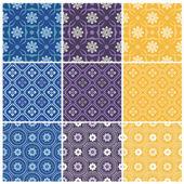 Elegant seamless patterns — Stock Vector