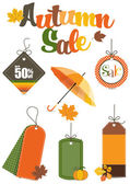 Autumn Sale Design Elements — Stock Vector