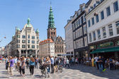 Street Strøget, Copenhagen — Stockfoto