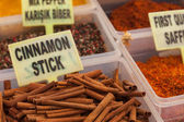 Spices in the Turkish market in Fethiye — Stock Photo