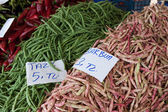 Green beans in the Turkish market — Stock Photo