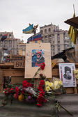 Place the memory of the murdered protester Sergei Nigoyan, Euromaidan — Stock Photo