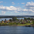 Stock Photo: Island with houses in Oslo fjord