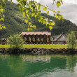 Stock Photo: Holiday house on fjord