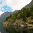 Stock Photo: Mountains on Sognefjord - Norway's largest fjord