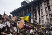 Barricades at Euromaidan in Kiev, Ukraine — Stock Photo