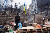 Lägret av demonstranter på maidan, euromaidan, kiev — Stockfoto