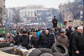 Ukrainians at Euromaidan, Kiev, Ukraine — Stock Photo