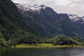 The mountains on the Sognefjord - Norway's largest fjord — Foto Stock